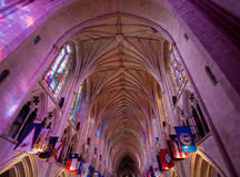 Light falling in gothic cathedral Stock Image