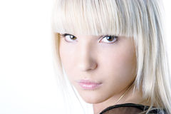 Light fashionable portrait. Light clean and fashionable portrait of beautiful blonde girl. Find more portraits of this model in my portfolio Royalty Free Stock Photos