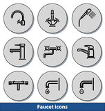 Light faucet icons Royalty Free Stock Images