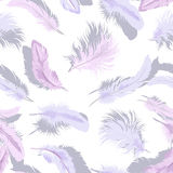 Light feathers seamless Royalty Free Stock Image