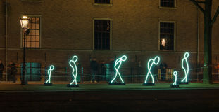 Light festival in amsterdam Stock Images
