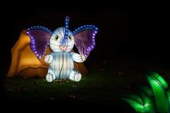 Light festival of elefant Royalty Free Stock Photo