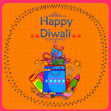 Light Festival of India Happy Diwali celebration. Background in vector Stock Photography