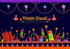 Light Festival of India Happy Diwali celebration. Background in vector Stock Photo