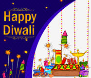 Light Festival of India Happy Diwali celebration. Background in vector Royalty Free Stock Photos