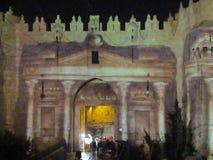 Light festival Jerusalem 2017 stock photography