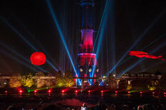 Light festival 2014 in Moscow Royalty Free Stock Image