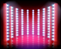 Light festival on the stage. Vector illustration. Stock Photos