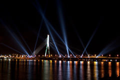 The light festival Staro Riga (Beaming Riga) Royalty Free Stock Images