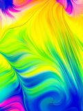 Light Fibers. Twisted threads of light. Overflow Colors Series royalty free stock photos