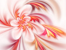 Light fiery fractal flower, digital artwork Stock Images