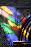 Light filters from a stainglass window Stock Images