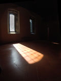 The light filters through the window. Of a castle Royalty Free Stock Photos