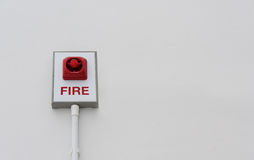 Light fire alarm. On white background Royalty Free Stock Photo