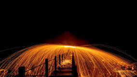 Light fire Spin Stock Photos