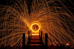 Light fire Spin Stock Image