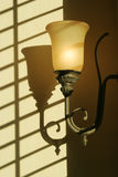 Light fixture. On the wall Stock Image