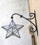 Light Fixture. Star Light fixture outside mansion in Sarasota,Florida royalty free stock images