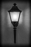 Light fixture. Beautiful  street light fixture in classical black and white Royalty Free Stock Photography