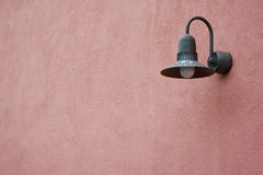 Light Fixture on Pink Wall Stock Images