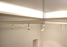 Light fixtures on the ceiling Royalty Free Stock Photos