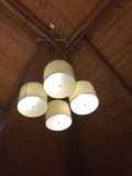 Light fixtures hanging at the ceiling Royalty Free Stock Photo