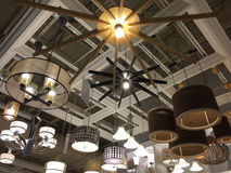 Light fixtures selling at furniture market Royalty Free Stock Photography