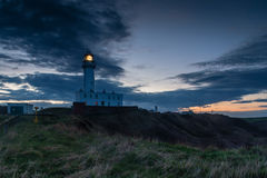 Light on Flamborough Head Lighthouse Royalty Free Stock Images