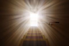 Light flare on the door to the future. Royalty Free Stock Photos