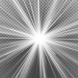 Light Flare Special Effect. Abstract Image Of Lighting Flare. Isolated On Transparent Background. Vector Illustration. Light Beam Rays Vector. Light Effect Stock Image