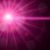 Light flare special effect background Royalty Free Stock Images
