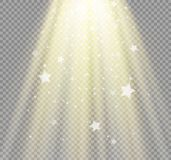 Light flare special effect with rays of light and magic sparkles. Stock Photos