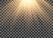 Light flare special effect with rays of light and magic sparkles. Glow transparent vector light effect set, explosion, glitter, sp. Ark Royalty Free Stock Image