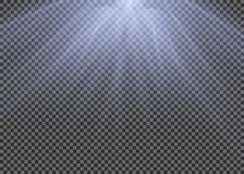 Light flare special effect with rays of light and magic sparkles. Glow transparent vector light effect set, explosion, glitter, sp. Ark Stock Images