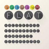 Light Flat Font and Numbers in Circle Royalty Free Stock Photography