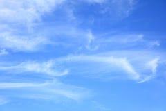 Light fleecy clouds Stock Image