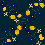 Light floral background in vector. Colorful spring natural cover, print, for web. Illustration Stock Photo