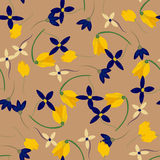 Light floral background in vector. Colorful spring natural cover, print, for web. Illustration Stock Images