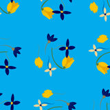 Light floral background in vector. Colorful spring natural cover, print, for web. Illustration Royalty Free Stock Photo