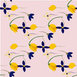 Light floral background in vector. Colorful spring natural cover, print, for web. Illustration Royalty Free Stock Image