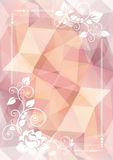 Light floral border Stock Images