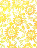 Light floral ornament on a paper Royalty Free Stock Images