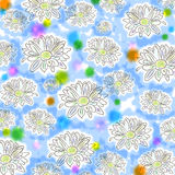Light floral seamless pattern with chamomiles. Cut Royalty Free Stock Image
