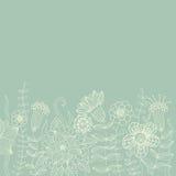 Light floral vintage background Stock Images