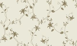 Light floral vintage seamless pattern Stock Images