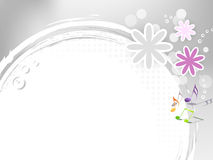 Light flower frame vector illustration