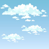 Light fluffy clouds. Vector. Fluffy clouds on a blue sky on a clear day Royalty Free Stock Image