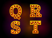 Light font. Alphabet text vector Royalty Free Stock Photo