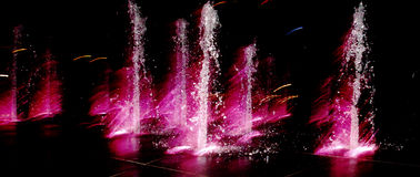 Light fountain Royalty Free Stock Photo