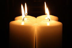 Light of four Candles Stock Images